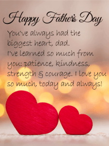 Happy Father's Day. You've always had the biggest heart, dad. I've learned so much from you: patience, kindness, strength & courage. I love you so much, today and always!