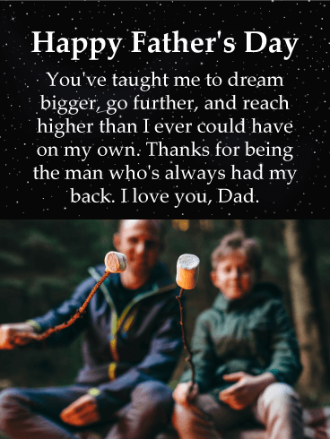 Happy Father's Day. You've taught me to dream bigger, go further, and reach higher than I ever could have on my own. Thanks for being the man who's always had my back. I love you, Dad.