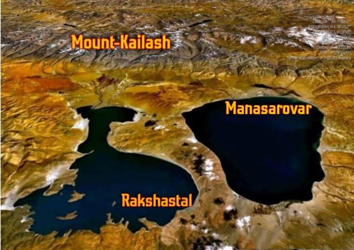 Real-location of Lake Manasa Sarovar & Lake Rakshasa Sarovar